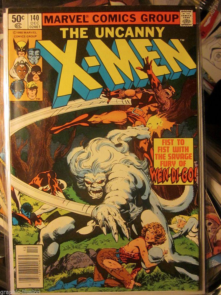 UNCANNY X-MEN #140  MARVEL COMICS John Byrne art Wendigo 1st print & series 1980