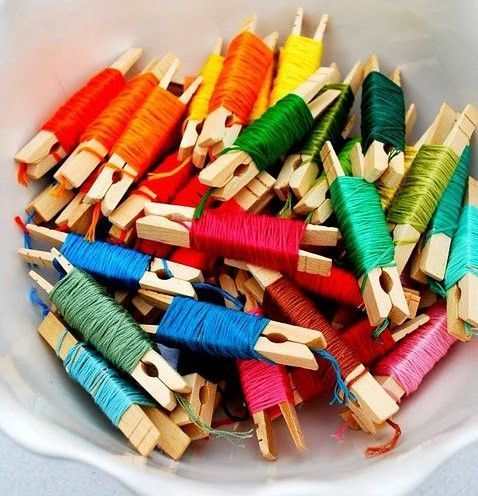 Image result for ways to store craft string storage ideas diy craft room ideas and craft room organization projects organizing embroidery floss cool ideas for do it yourself craft storage fabric paper solutioingenieria Images