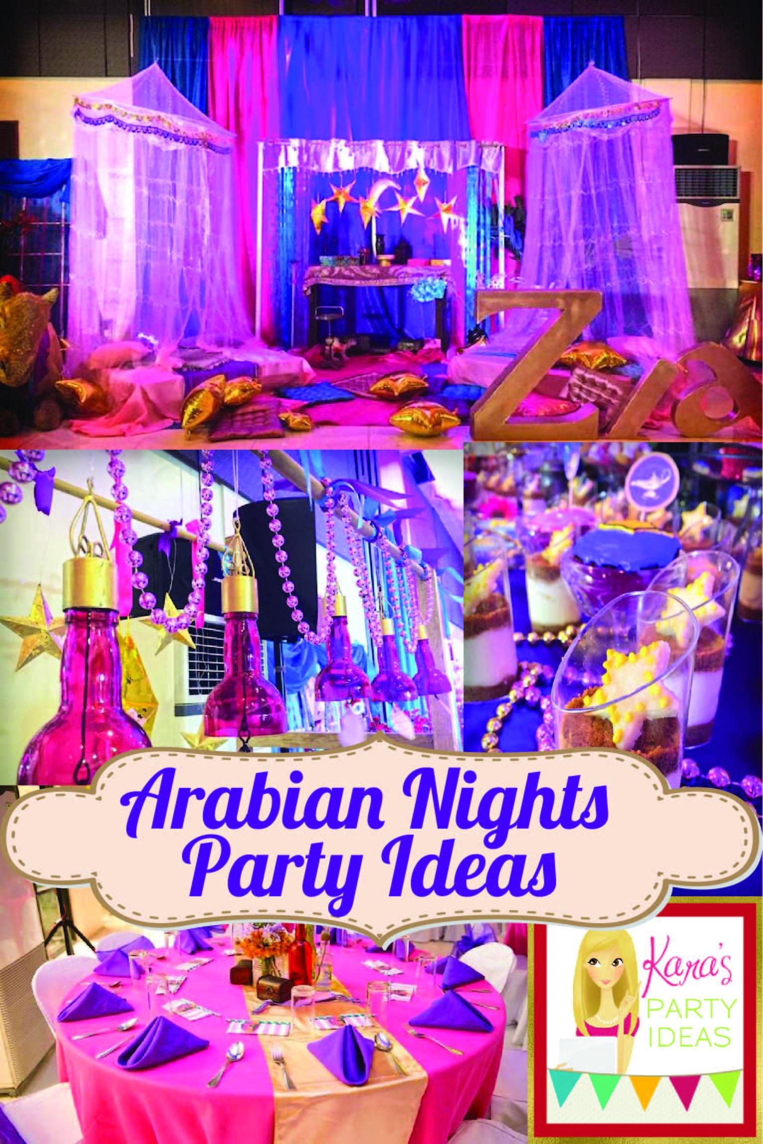 Arabian Nights Birthday Party Arabian Nights Party Sleepover