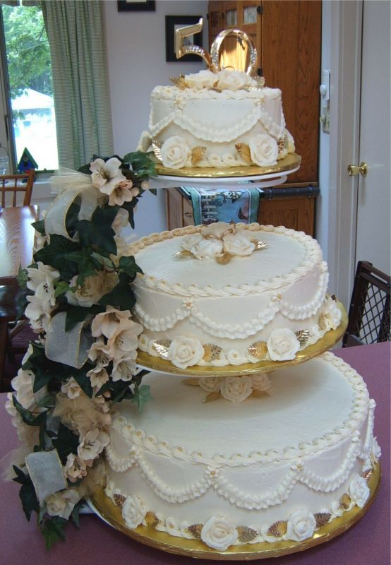 Cake Decorating Ideas For 50th Wedding Anniversary : cake decorating ideas 50th Anniversary Cakes Best ...