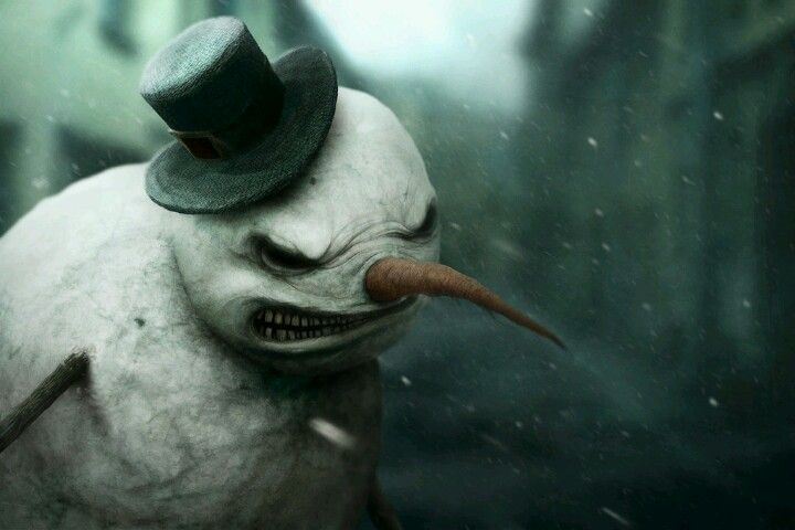scary snowman art pinterest snowman scary and creepy
