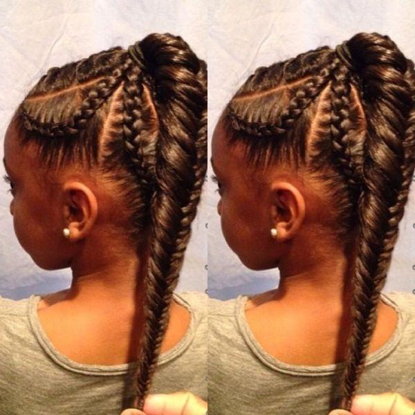 Fishtail Braid Kids Hairstyle Black Hair Information Community Kids Braided Hairstyles Kids Hairstyles Fishtail Braid Hairstyles
