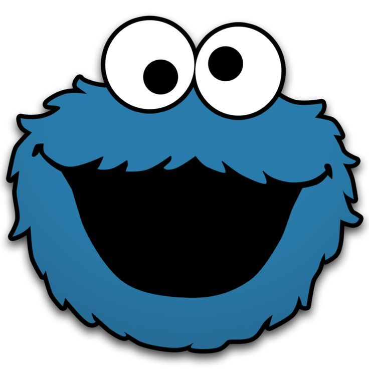 images for cookie monster face cut out - Cookie Monster Face Coloring Pages