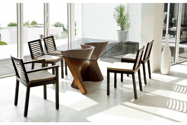 Wave Dining Table Comedor In 2019 Glass Dining Table Rectangular Dinning Tables Chairs