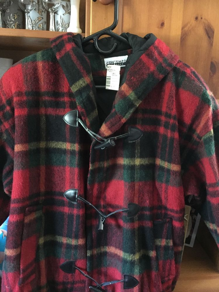 75df2ef12e5 contempo casuals vintage 80s wool plaid jacket ladies size L made in USA   fashion  clothing  shoes  accessories  womensclothing  coatsjacketsvests  (ebay ...