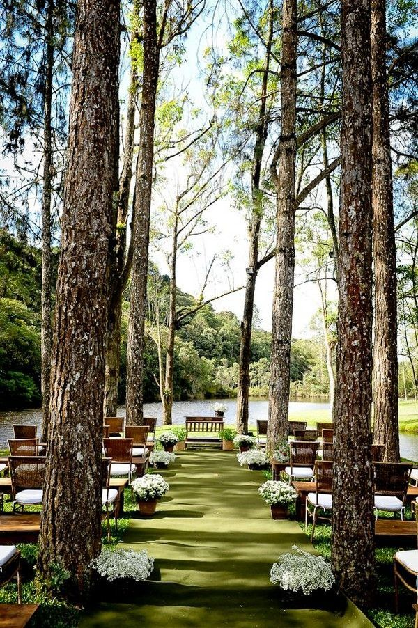 20 Stunning Woodland & Forest Wedding Ceremony Ideas