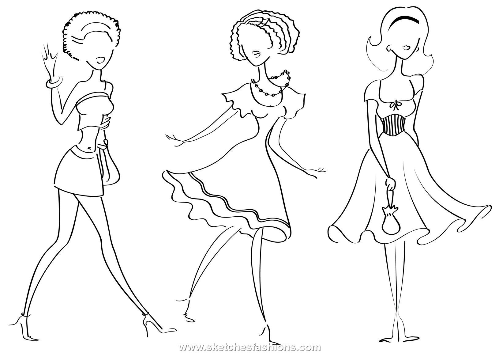printable fashion design coloring pages fresh in creative online