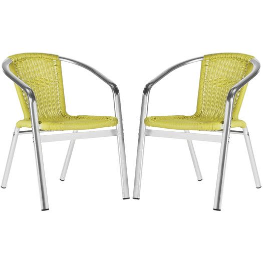 Wrangell stacking side chair - $185 for set of 2 - also comes in gray, blue - allmodern