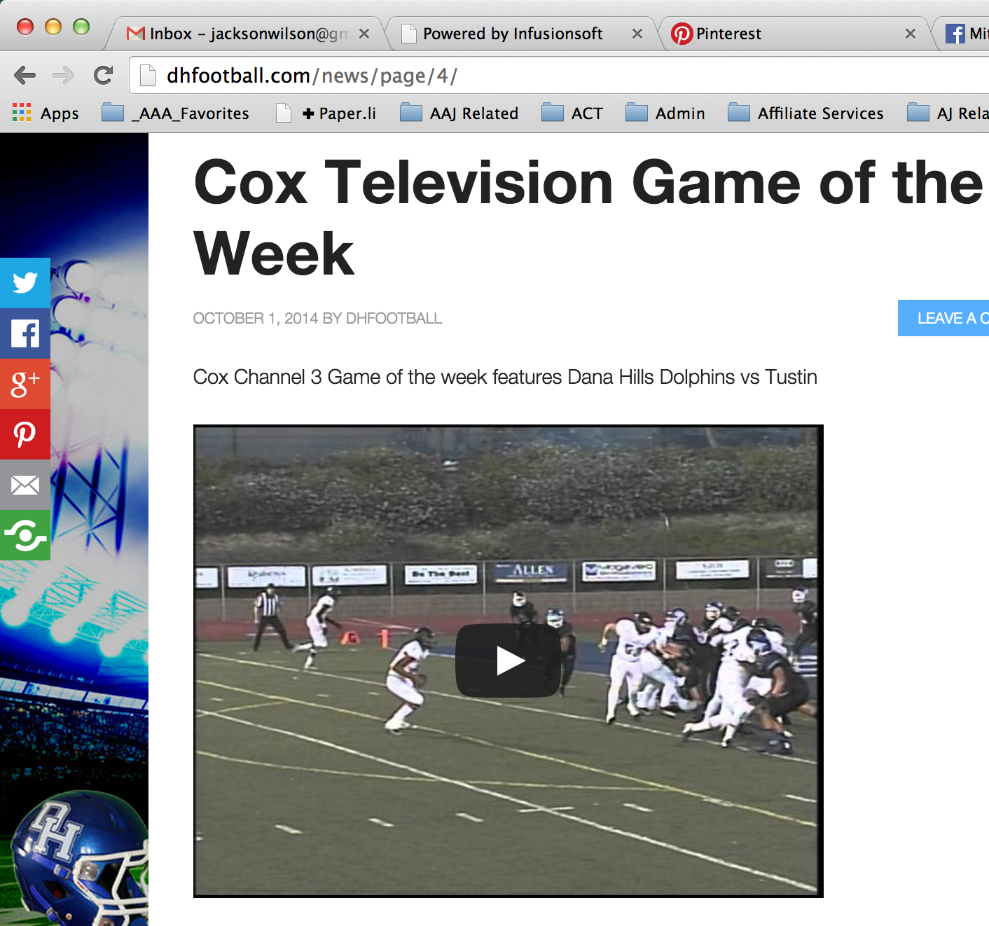 COX television game of the week vs Tustin  http://dhfootball.com/cox-television-dana-hills-dolphins-tustin/  #dhfootball #dhhs #football