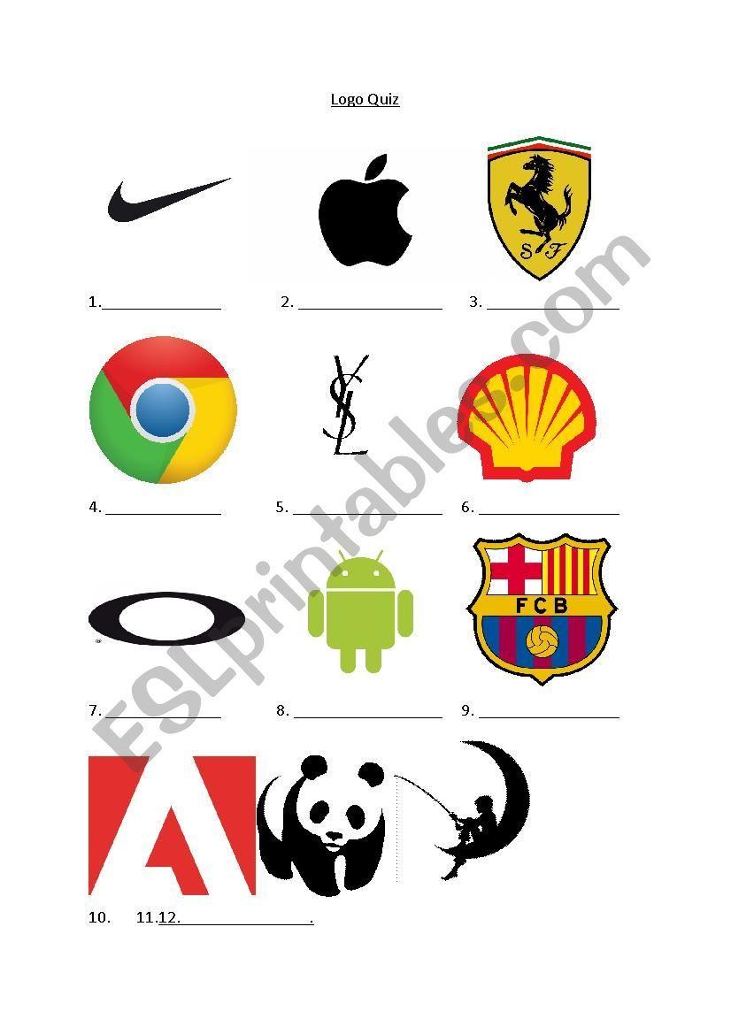 Logo Quiz For Advertising Lesson Esl Worksheet By Jonnilomax In 2020 Logo Quiz Logo Quiz Games Logo Quiz Answers