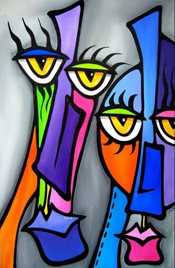 Rostros Etnias Arte Abstracto Contemporaneo Arte Abstracto Pinturas Abstractas