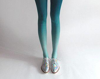 1bd4d32182f90 BZR Ombré tights in Mermaid | cuteeeeeeeeeeee | Ombre tights, Tights ...