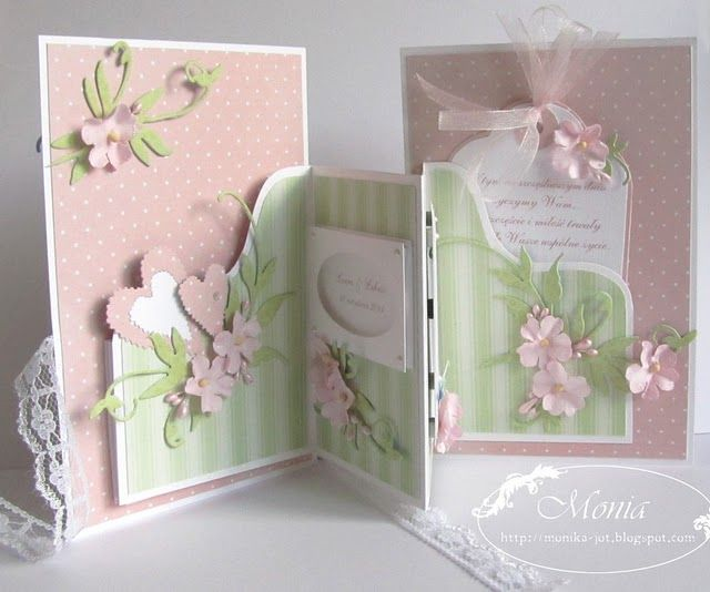 Beautiful spring colored card with fun folds
