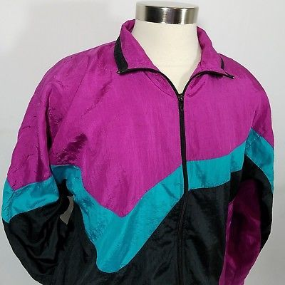 Vintage 80s 90s Women/'s Fuchsia and Black