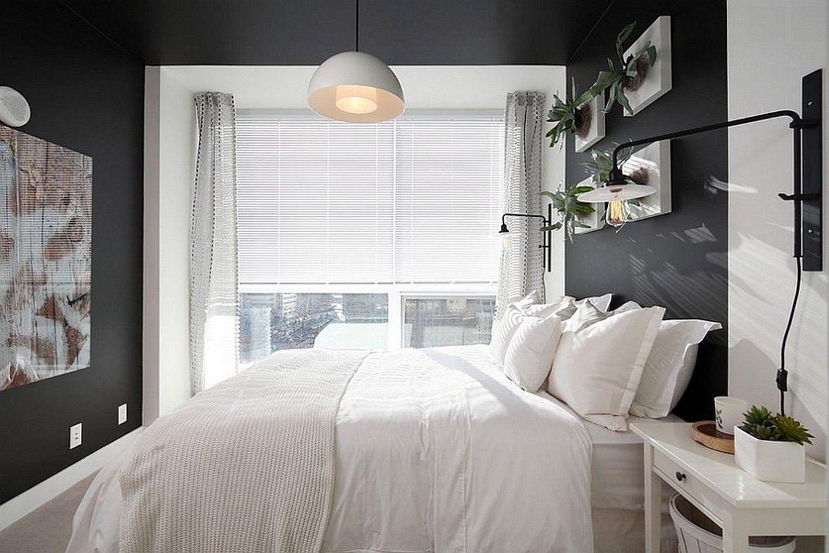 130 Square Feet Bedroom Interior Decoration Ideas Modern Small Dark Walled Room Bedroom Design Trends Simple Bedroom Design Bedroom Interior
