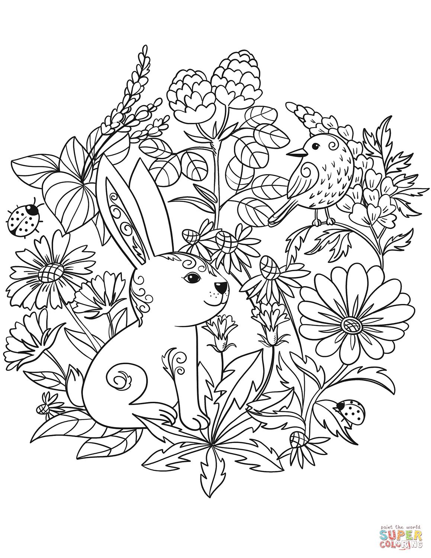 Rabbit And Bird Super Coloring Bird Coloring Pages Coloring Pages Whale Coloring Pages [ 1500 x 1159 Pixel ]