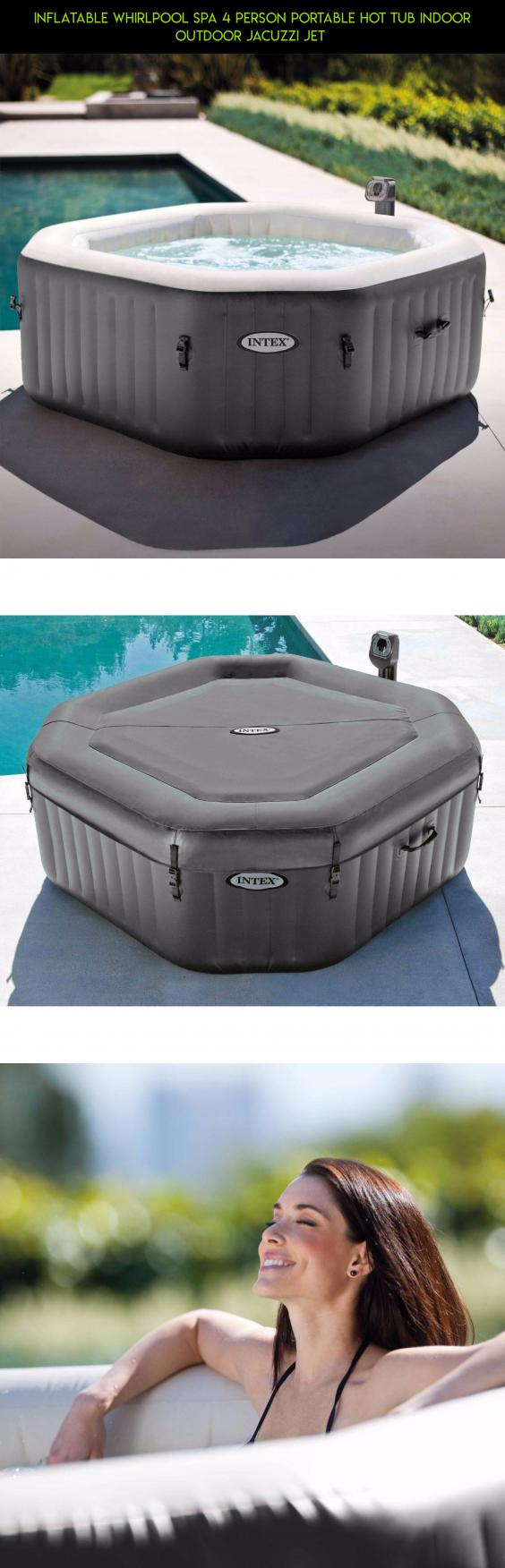 Inflatable Whirlpool Spa 4 Person Portable Hot Tub Indoor Outdoor ...