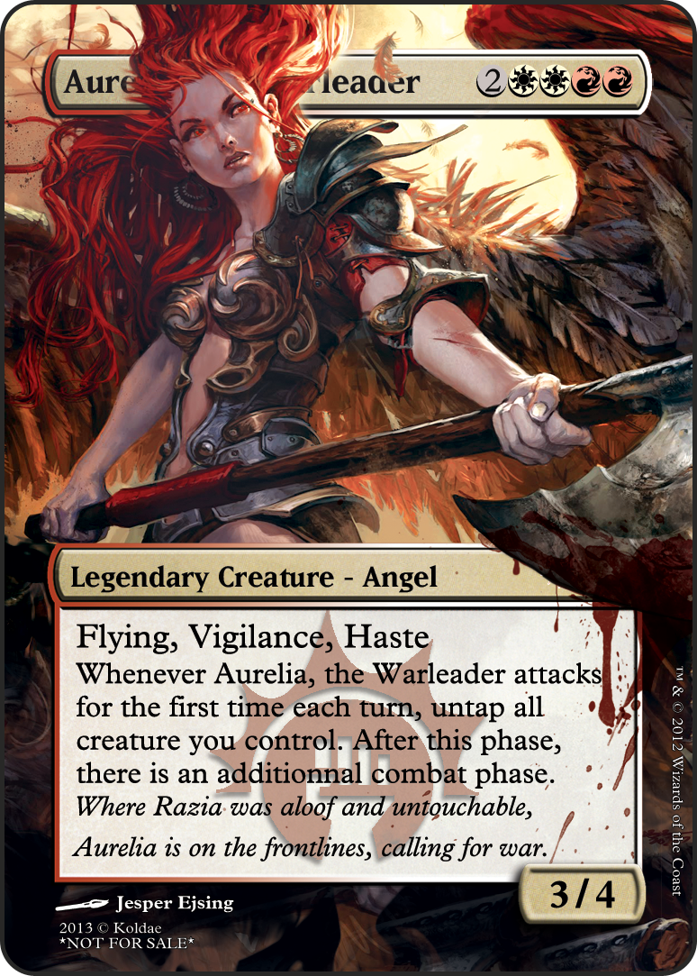 Aurelia, the warleader | Creatures & Legends | Magic the ...