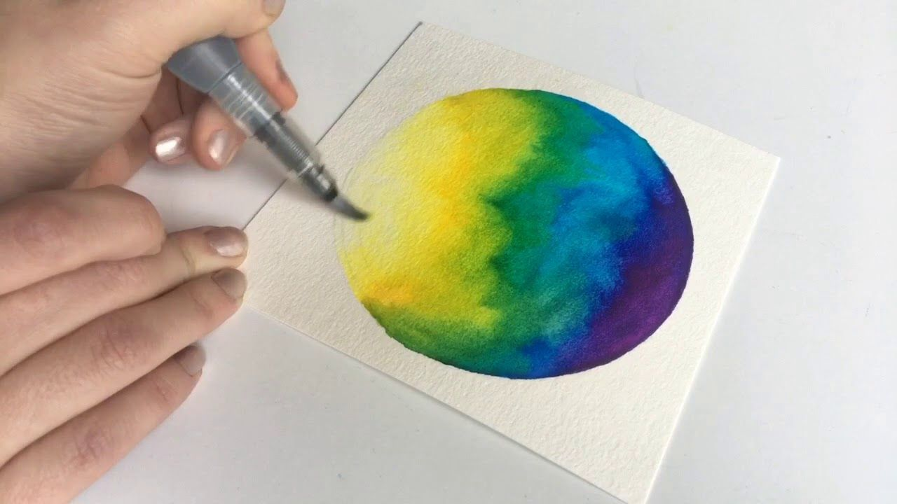 Easy Watercolor Galaxy Using Tombow Dual Brush Markers
