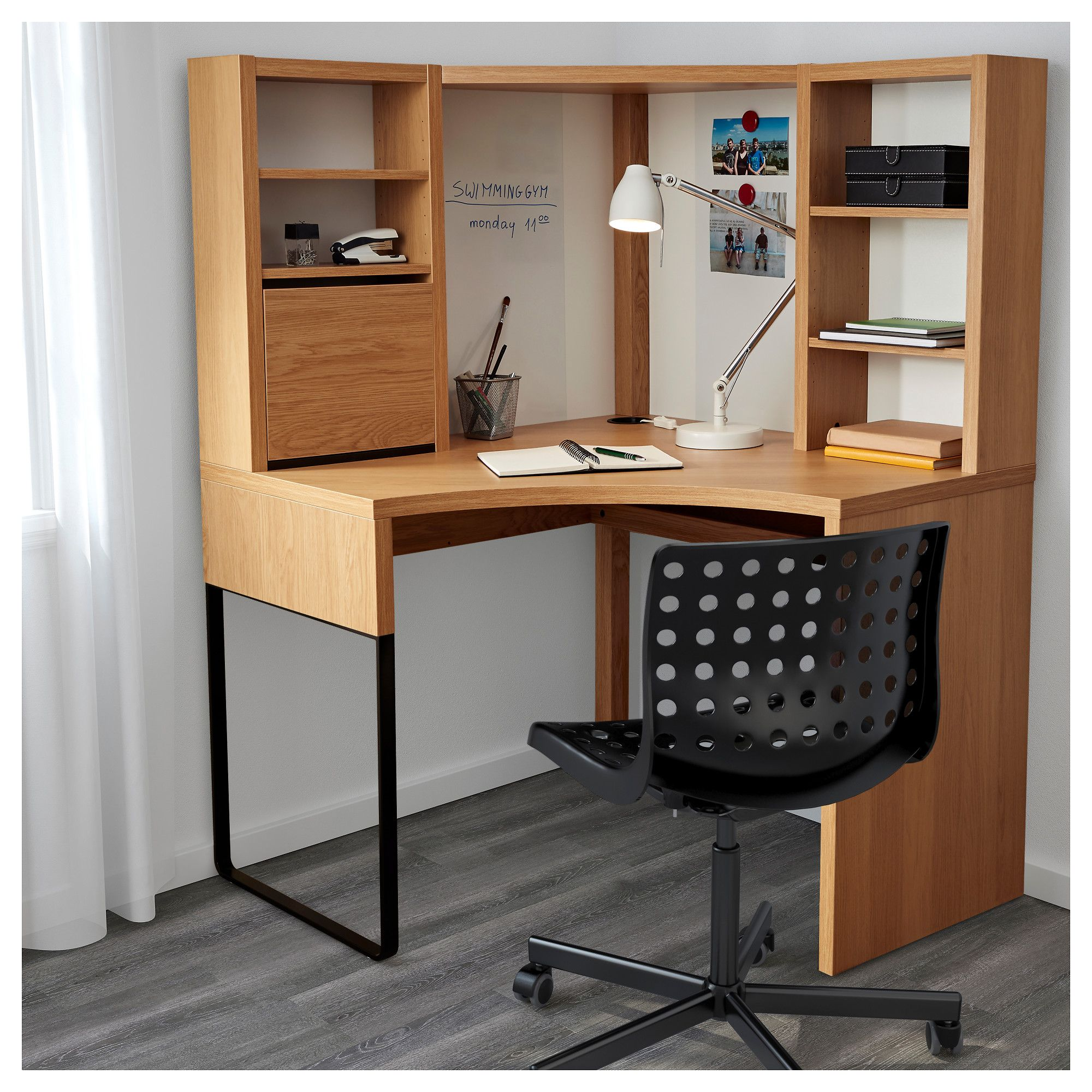 new arrivals 82bee b09d6 MICKE Corner workstation Oak effect IKEA in 2019 | Corner ...