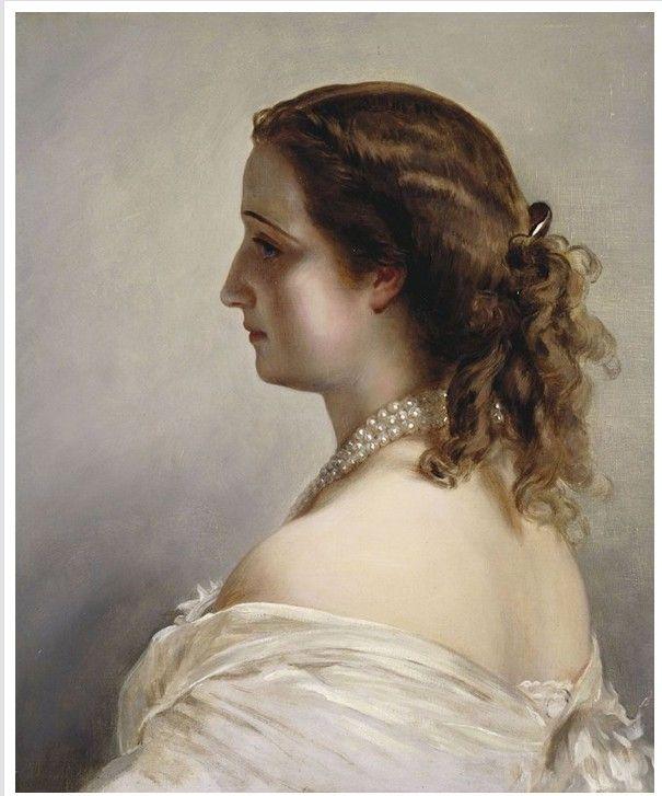 1855 Portrait of Eugenie by Franz Winterhalter (Napoleonmuseum, Arenberg).