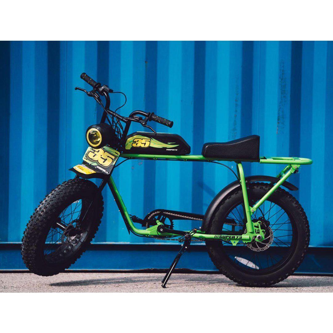 Super73 Bike Sticker Decal Set Custom Tank Up Flames Super 73