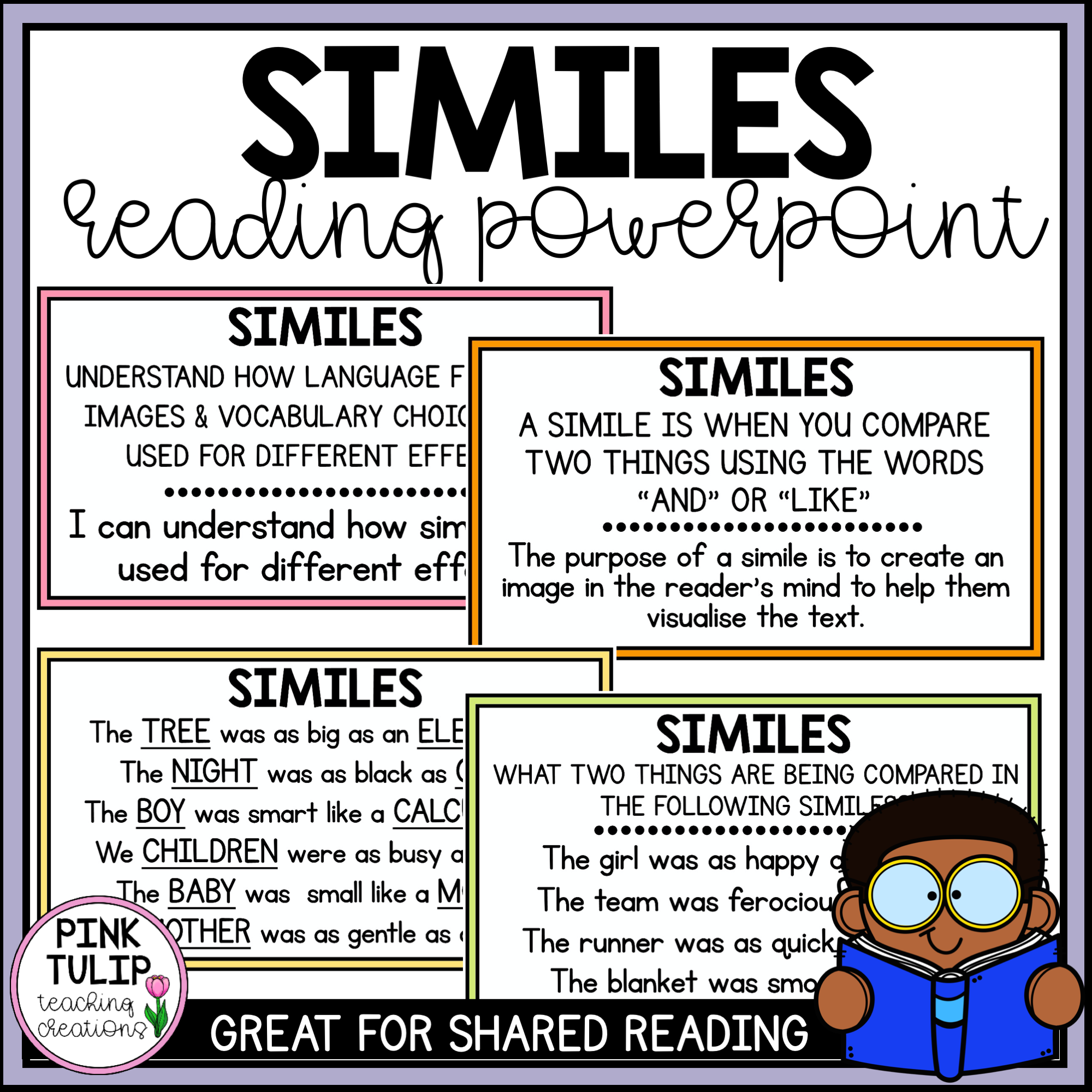 Similes Shared Reading Powerpoint In