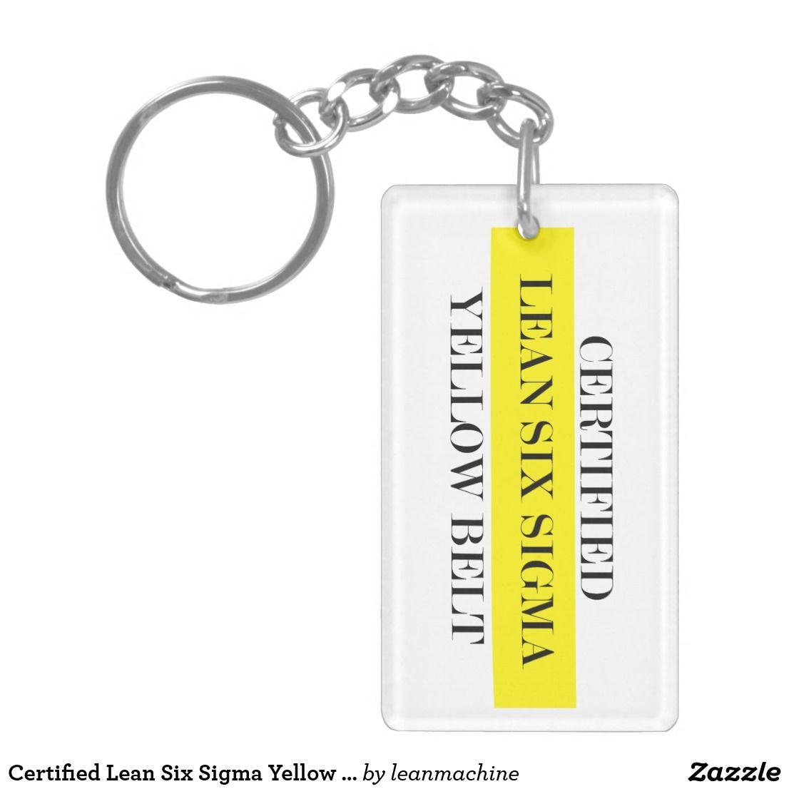Certified Lean Six Sigma Yellow Belt Key Chain