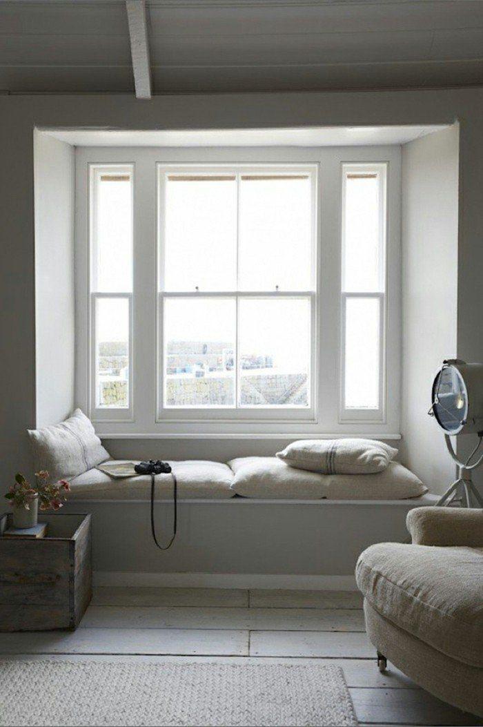 Fensterbank Wohnideen Wohnzimmer Erholung Sitzkissen
