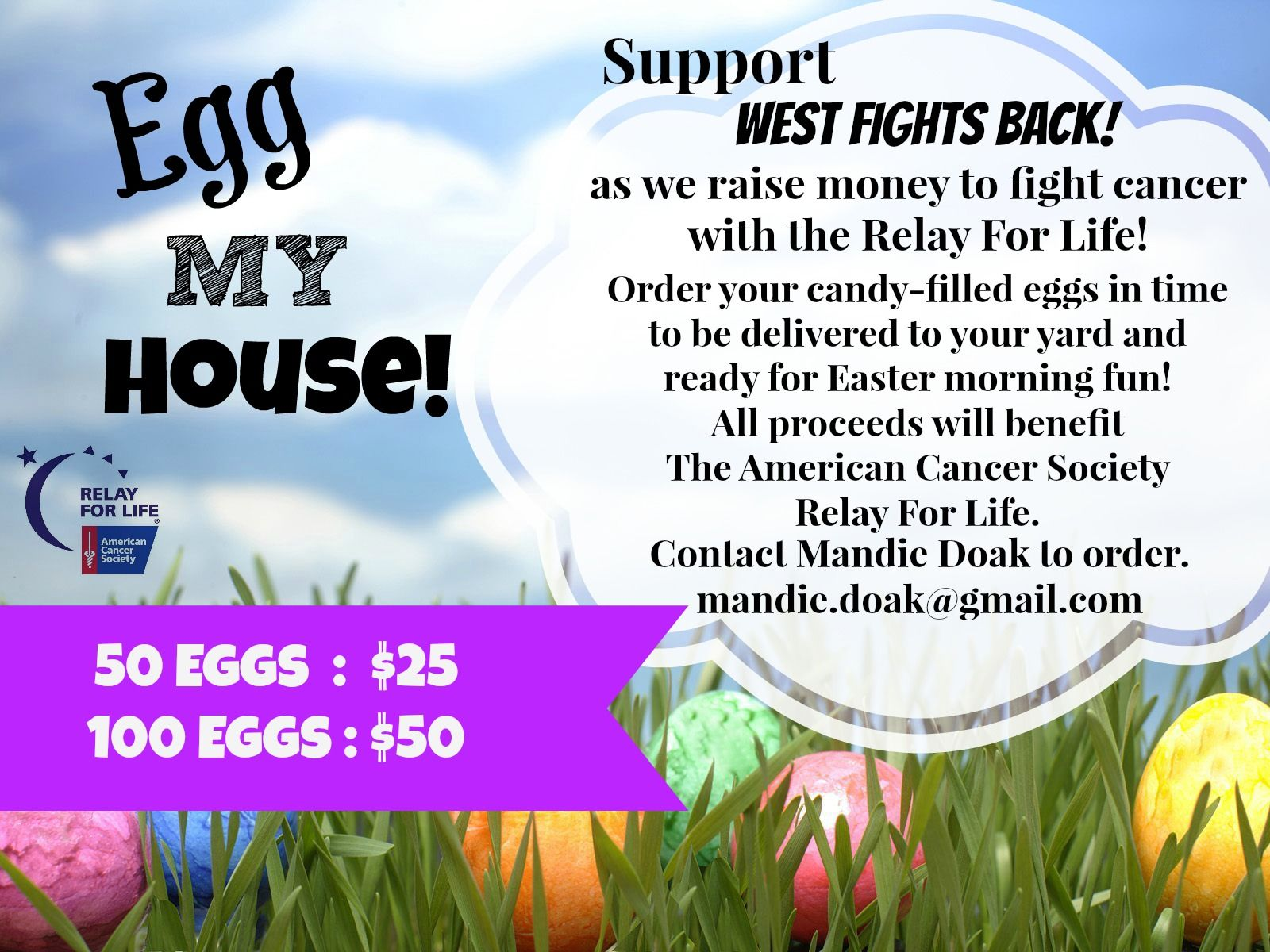 fa345d371e712f Relay For Life.... Egg My House! Fun Easter Fundraiser!