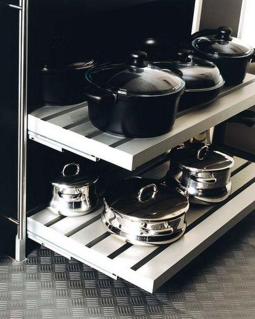Drahtkorb Regale Küchen Ordnungssystem Töpfe Pfannen | küche ...