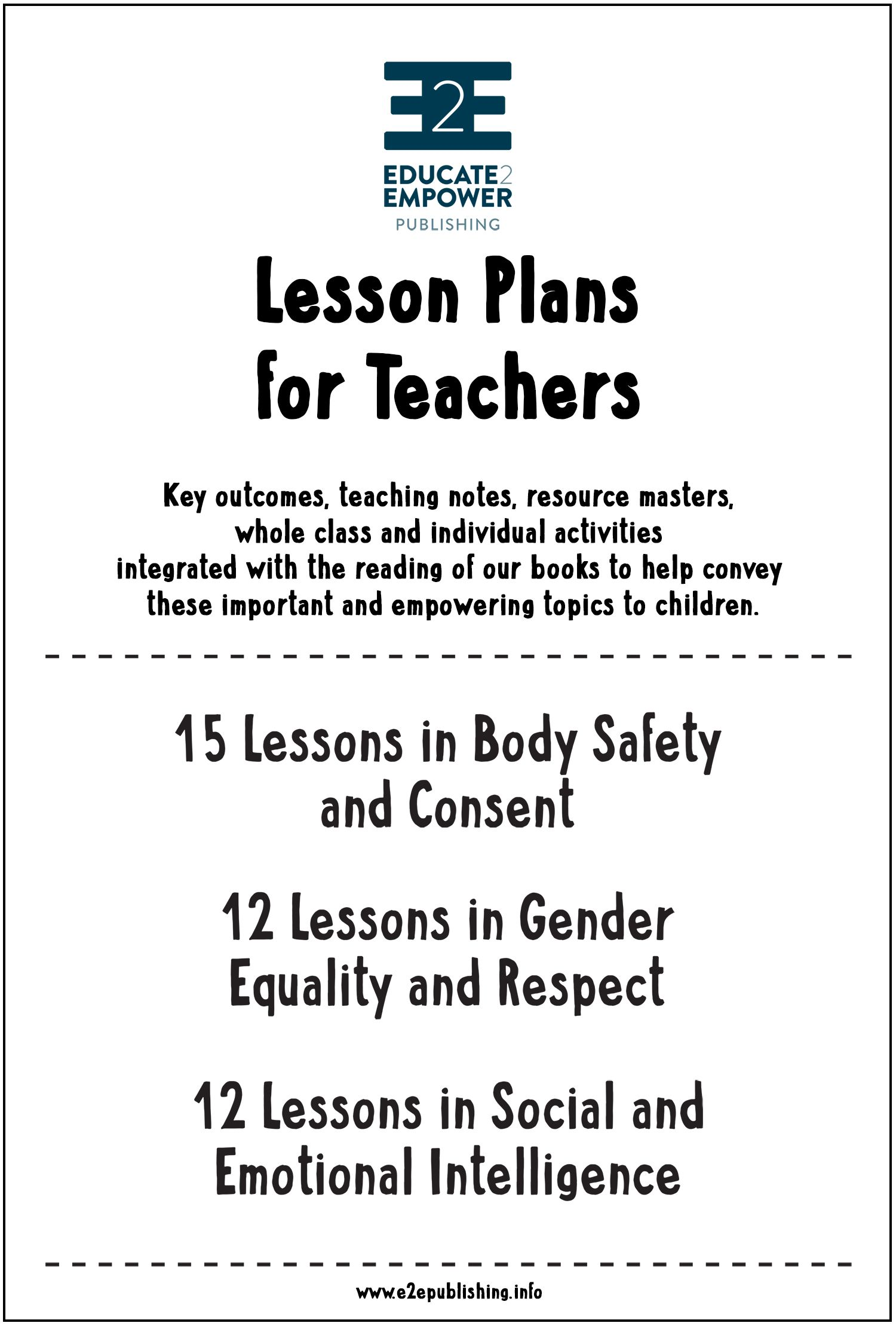 Lesson Plans For Teachers Body Safety Gender Equality Social And