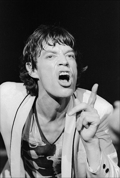 British Rock musician Mick Jagger performs with his group the Rolling Stones at the Capitol Theater Passaic New Jersey June 14 1978