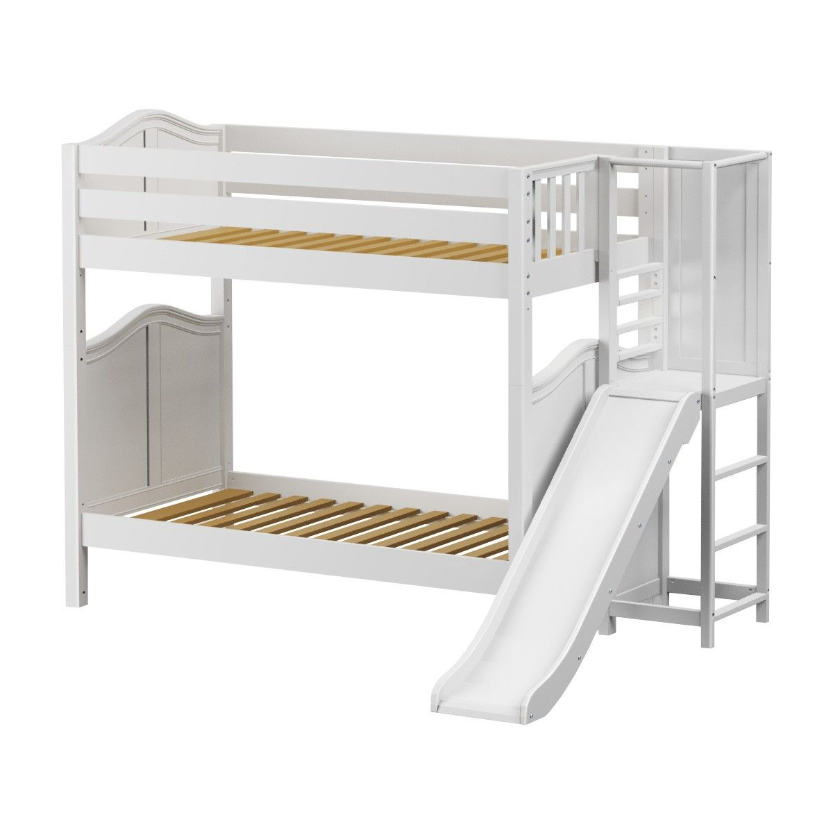Twin High Bunk Bed With Slide Platform Bed With Slide Bunk Beds