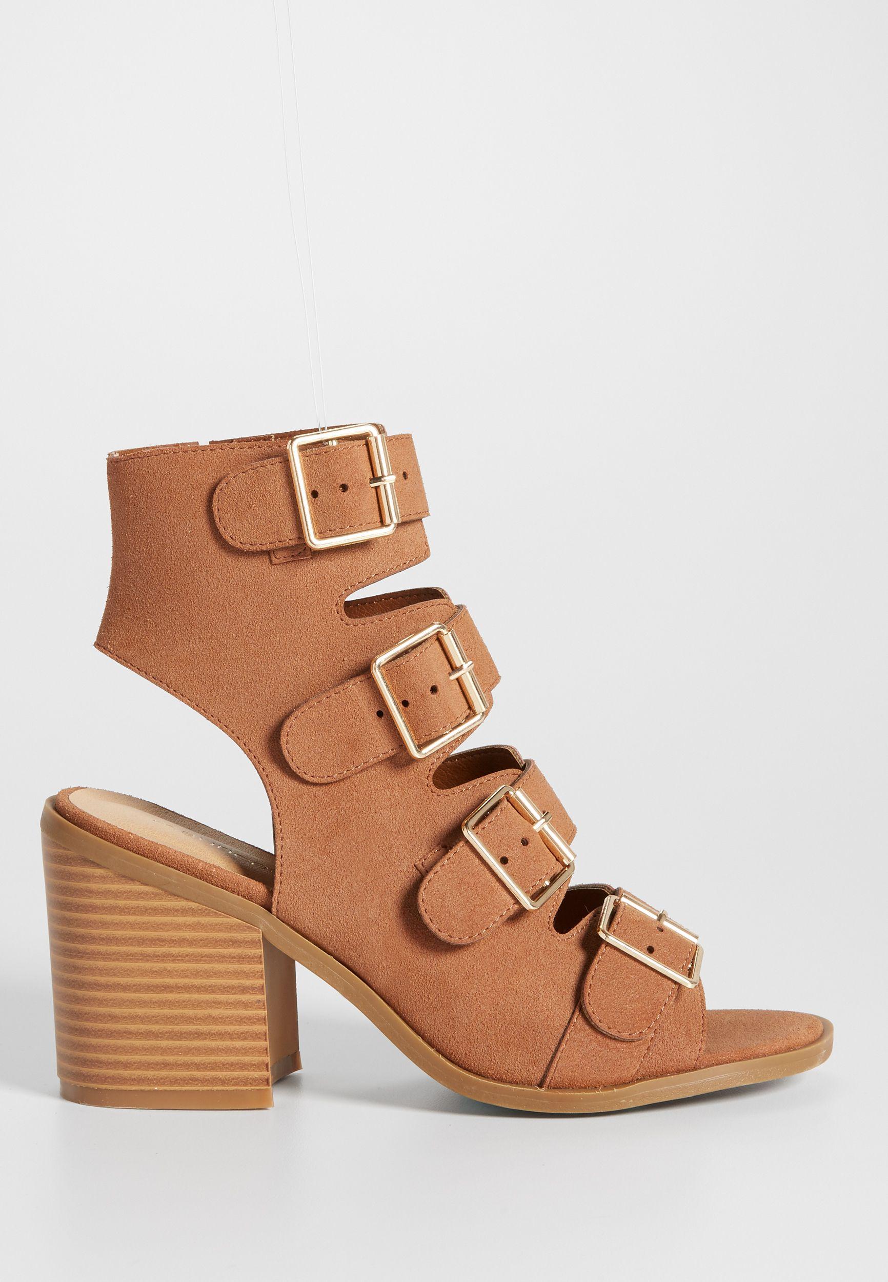 7579cc0d99cd Cecelia heel with buckles in cognac (original price