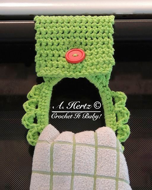 Towel Holder: free pattern #crochet by ppt