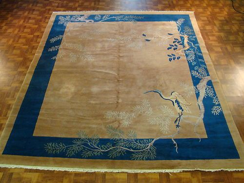 Gorgeous Handmade Art Deco Chinese Rug Ebay
