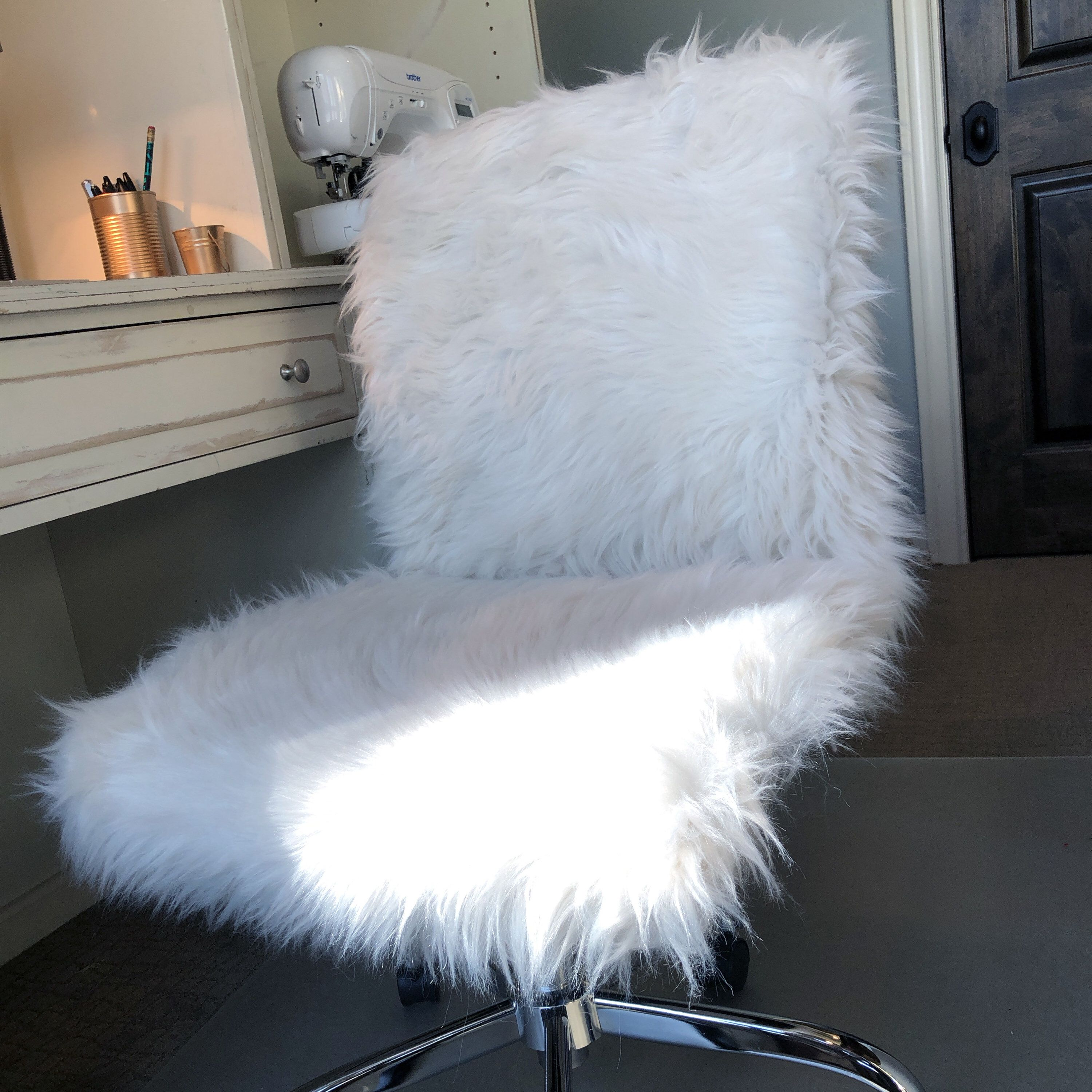 Faux Fur Chair Cover Slipcover