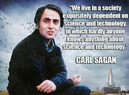 Image result for Carl Sagan science