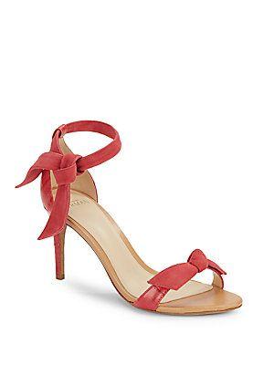 Alexandre Birman Patty Suede & Eel Bowtie D'Orsay Sandals ...