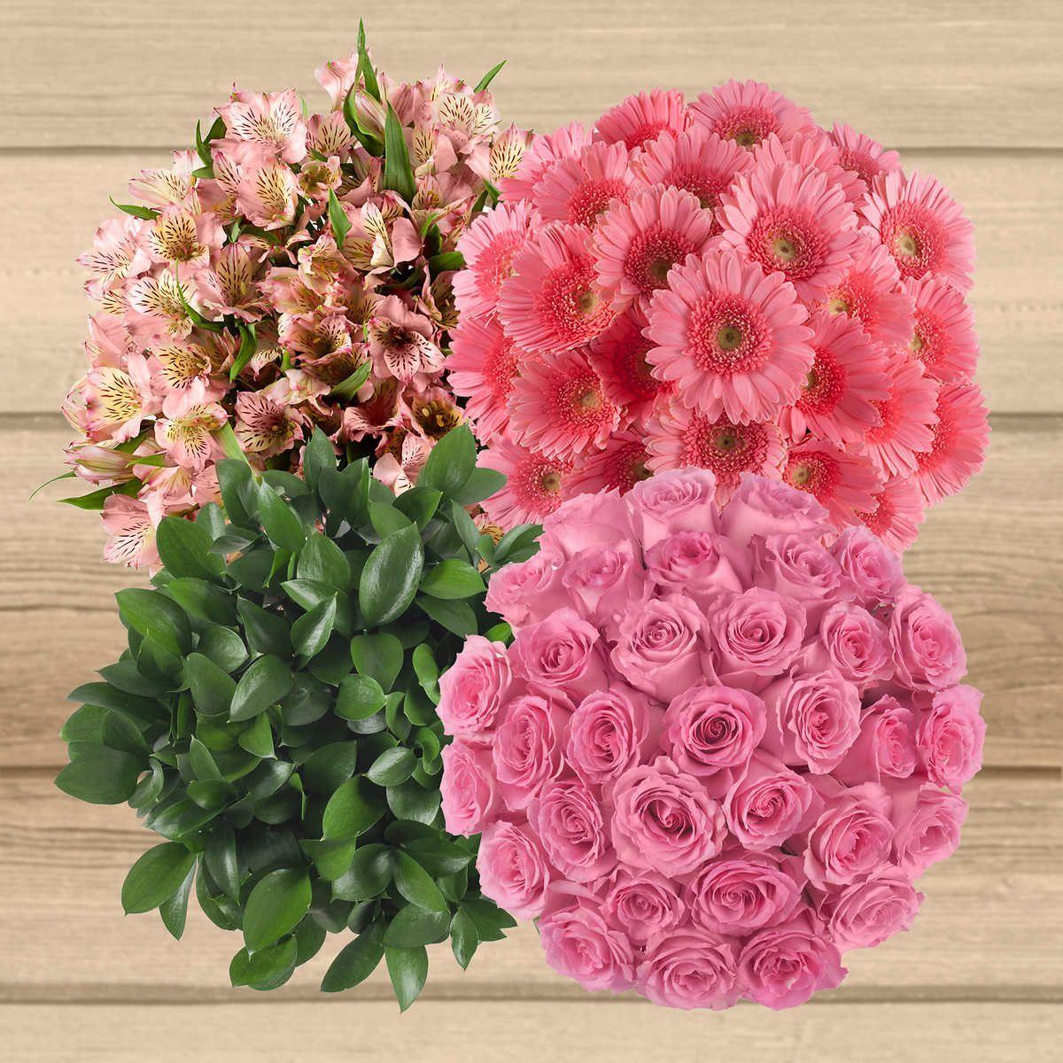 pink 1 Diy wedding flowers, Costco flowers, Wedding