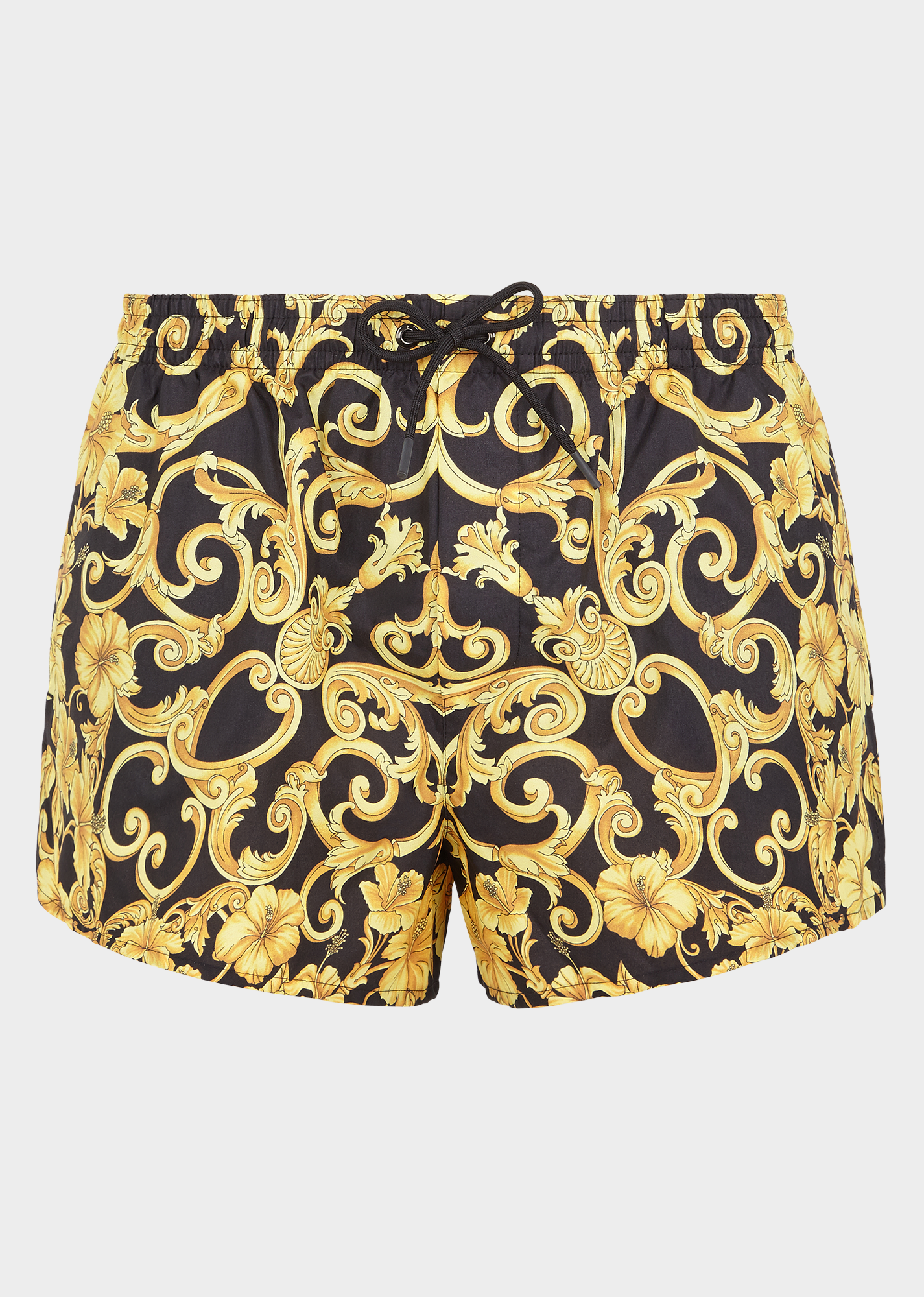 39d0a72955 VERSACE Gold Hibiscus print swim shorts. #versace #cloth | Versace ...