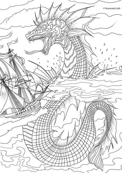 Fantasia – Sea Monster | Pintar | Pinterest | Pintar y Moldes