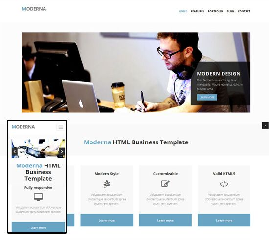 Business Responsive Templates Black Personal Organizing Small - Free responsive personal website templates