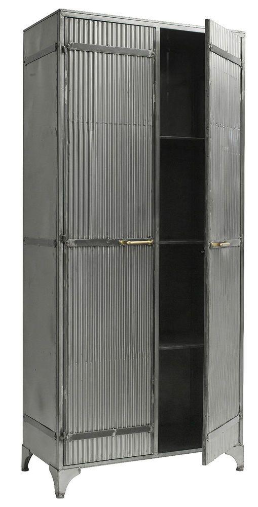LEON, Metallschrank industrial altes Metall, vintage Schrank - wohnzimmerschrank zu verschenken