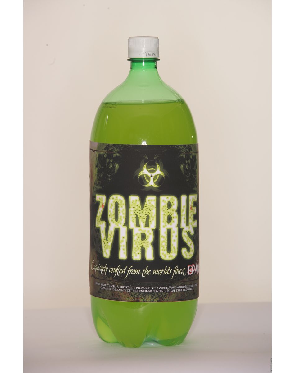 zombie virus halloween soda label. | Party Ideas | Pinterest ...