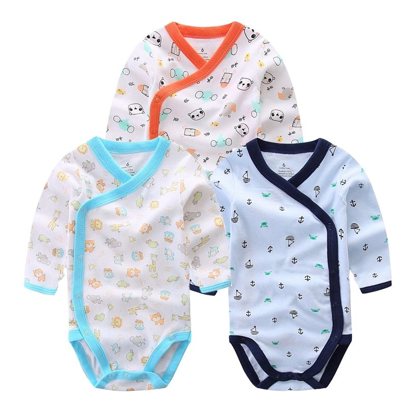 68c164cd1b65 3 PCS Smiling Babe Brand Baby Romper Long Sleeves Cotton Newborn Baby Girl  Boy Clothes Cartoon Printed Baby Clothing Set 0-12 M Price  18.00   FREE  Shipping ...