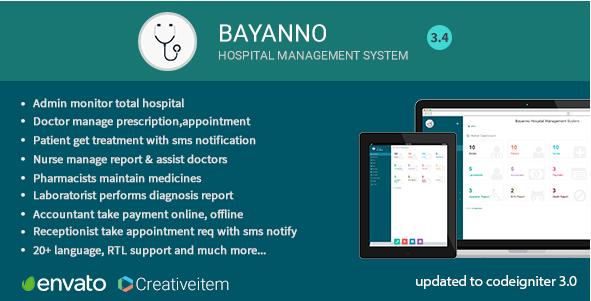 Bayanno v3 4 – Hospital Management System [Latest]   Codezr