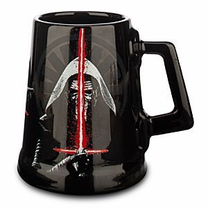 Disney Star Wars: The Force Awakens Kylo Ren Mug | Disney StoreStar Wars: The Force Awakens Kylo Ren Mug - Kylo Ren prefers his coffee on the dark side, but you can enjoy your brew any way you'd like with our roomy ceramic mug featuring the newest foe in the Star Wars saga.