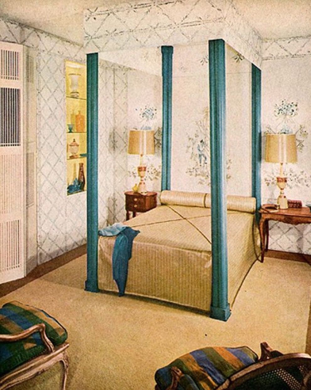 - Pin By Sue Rutherford On Mid Century Bedrooms Discount Bedroom Furniture, Canopy  Bedroom, Canopy Over Bed